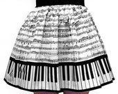 Classic Piano Full Skirt -20% OFF