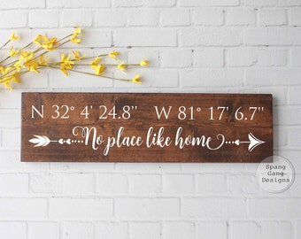 latitude longitude sign | GPS sign | coordinates sign | address sign | custom coordinates | wedding shower gift | GPS coordinates sign