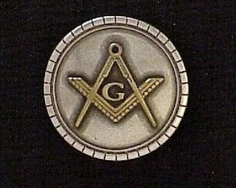 Masonic screw back concho