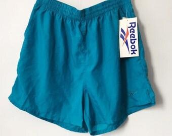 Deadstock Reebok Teal Athletic Shorts Women's Size XL