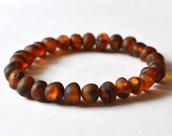 Brown Amber Men's Bracelet Men Masculine Dude Bracelet Amber Bead Bracelet Mens Accessories Father Brother Husband