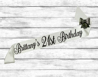 21st Birthday Sash - Birthday Sash - 21 Birthday Sash - Birthday Gift - Best Friends Birthday - 21st Sash