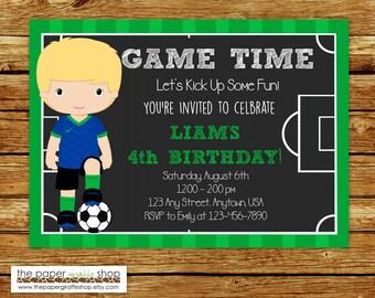 Soccer Invitation   Soccer Birthday Chalkboard Field Invitation   Soccer Party   Sports Invitation   Soccer Invites   Soccer Player