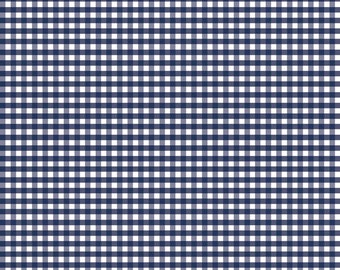 High Quality Riley Blake Designs Navy Gingham. Perfect for Sewing, Quilting and Crafting!