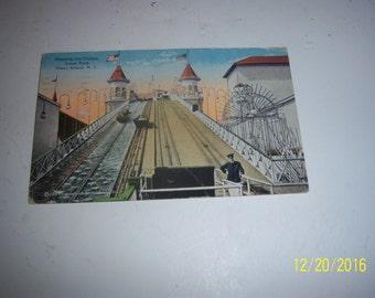 1920's Shooting the Chutes Luna ParkTheme Park Coney Island NY Postcard