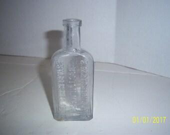 1890's E Hartshorn & Sons Boston, Ma 4 7/8 inch CLEAR medicine bottle No 2