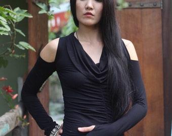 Kalika ~ Bamboo ~ long sleeve ~ cowl neck top