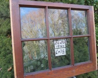24 x 20 Vintage Window sash old  6 pane from 1973