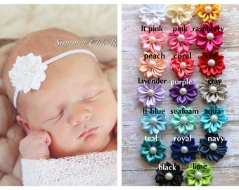 You Pick 5 - Baby Headband, Infant Headband, Newborn Headband, Baby Headband, Small Headband, Petite Headband