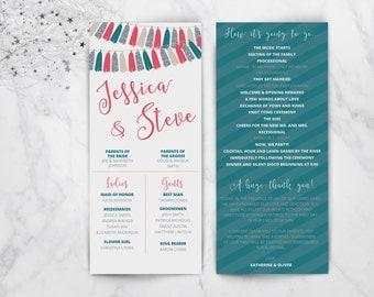 Tassels Garland Wedding Program and Menu