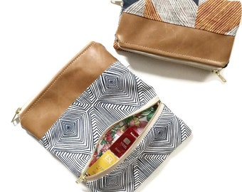 Clutch Wallet, Foldover Clutch Wallet, Leather Wallet, Foldover Clutch, Fold Over Clutch, Clutch, Clutch Purse, Womens Wallet, Clutch Bag