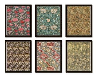 William Morris Print Set No. 1, Art Nouveau, Arts and Crafts, Botanical Prints, Illustration, Giclee, Wall Art, Prints, Victorian Style Art