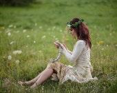 Woodland wedding dress Ivory fairy wedding dress Mountain bridal dress