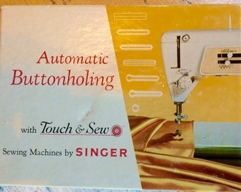 Vintage Automatic Buttonholer Singer Touch and Sew Part No. 161829 Model 620