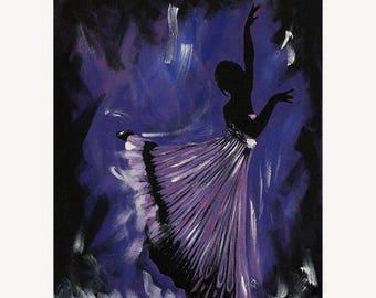 "Dance Ballet Painting ""Rome' - STUDIO SALE 30% off - 16x20 Original Acrylic Painting Dancer Modern Ballerina"