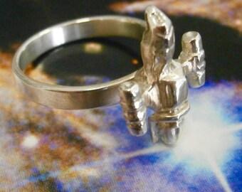 Sterling Sliver Firefly Ring