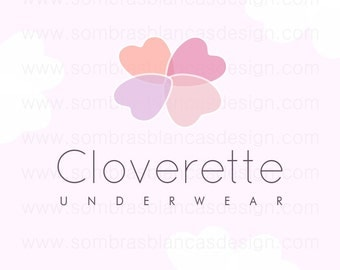 OOAK Premade Logo Design - Clover Flower - Perfect for an underwear brand or a natural skincare shop