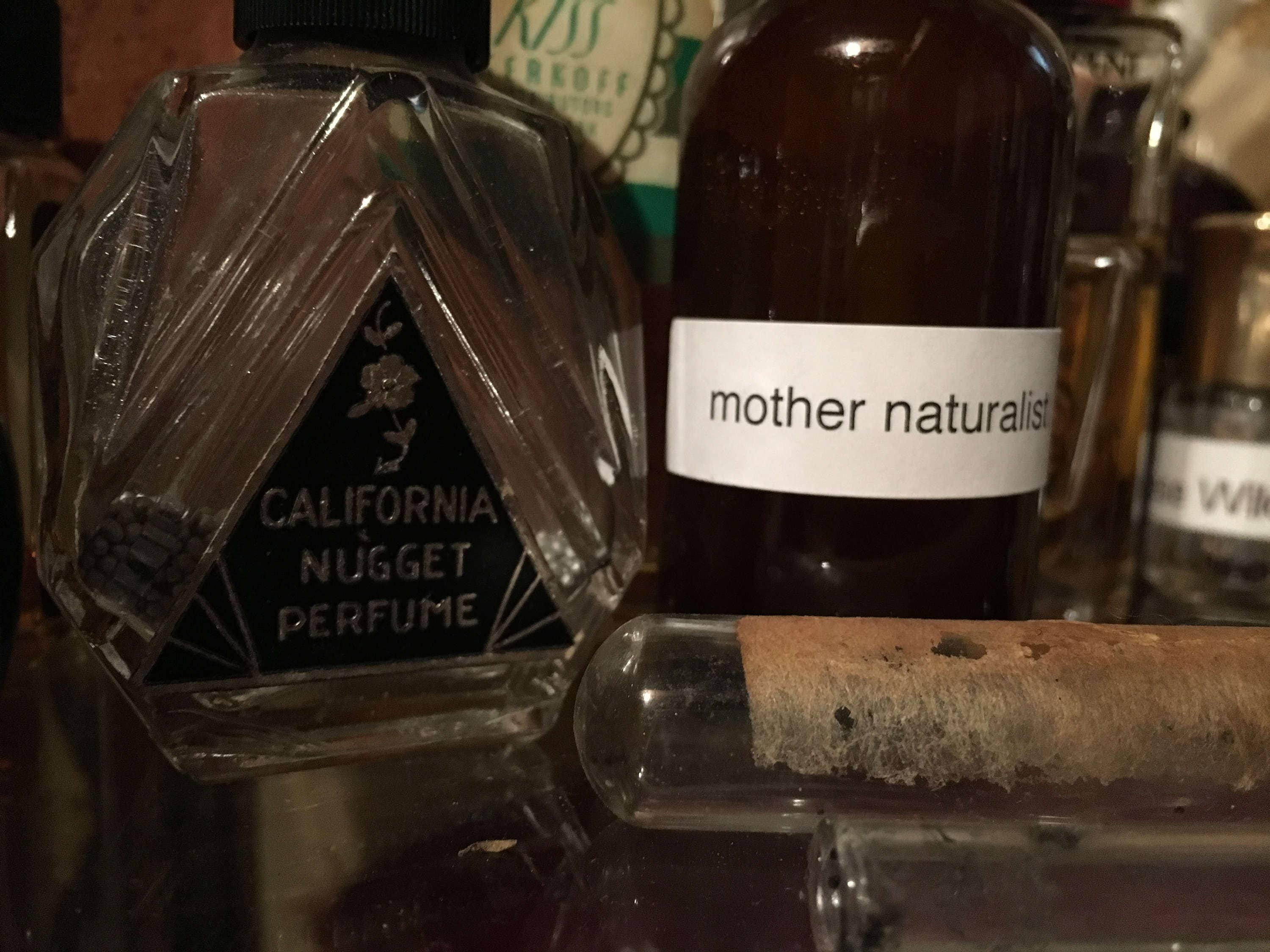 mother naturalist perfume + unisex + natural witch hazel base + powdery spring floral with honeysuckle