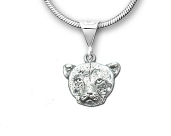 Sterling Silver Cheetah Pendant