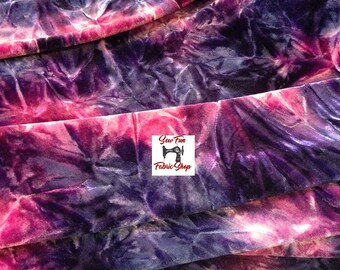 Purple Tye Dye Two-Way Stretch Spandex Fabric..great for costumes, dance, theater, formal wear, pageant.