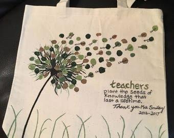 Teacher canvas tote