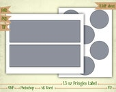 1.3 oz Mini Pringles Labels - Digital Collage Sheet Layered Template - (T102)