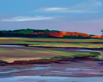 Maine Seascape Scarborough Marsh Plein Air Painting