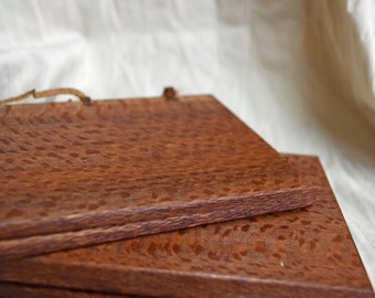 Exotic Leopard wood Wax Tablet with bronze stylus