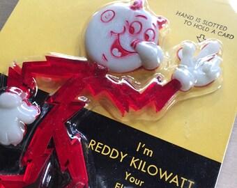 Reddy Kilowatt Business Card Holder