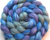 Merino/Silk/Bamboo Roving Spinning Fiber (Combed Top) 4 oz. Hand Painted