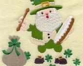 Luck of the Irish Embroidered Towel   Flour Sack Towel   Linen Towel   Dish Towel   Kitchen Towel   Hand Towel   Irish Holiday Towel