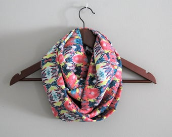 Beautiful Bright Multicolored Infinity Scarf