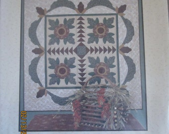 """Holiday Bouquet  54"""" Square Wall Quilt Pattern"""