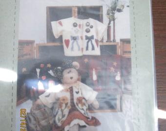 "Merry Beary  30"" Stufffed Bear with Seasonal Coats Pattern"