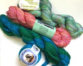 65% Off Lot of Mulberry Silk Lace Yarn 166g 1300 Yards Himalayan Multicolor