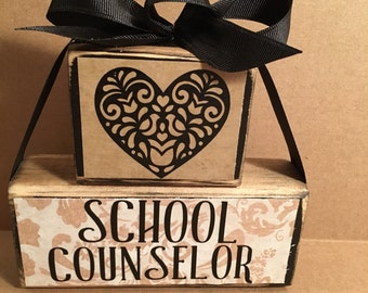 School counselor block set, counselor week, counselor gift,