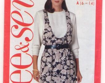 see&sew 57616-664 Ladies Top and Jumper Vintage Sewing Pattern