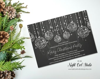 Christmas Party Invitation, Holiday Party, Corporate Holiday Party, Invite
