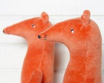 Fox  stuffed toy,  plush toy fox - 1 pc