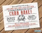 Crab Bake Invitation, Crab Boil Invitation, Seafood Bake Invitation, Crab Dinner Party, Seafood Party, Printable Party Invitation