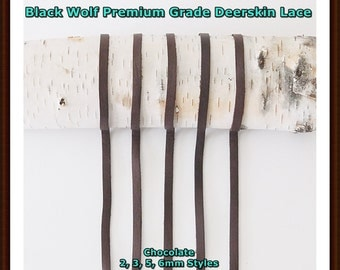 Deerskin Leather (Chocolate) Lace Premium Grade. All Styles, Deerskin Lace, Deerskin Leather, Deerskin Hide, Deerskin, Leather, Crafts