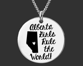 Alberta Necklace | Alberta Jewelry | Canada Necklace | Canada Jewelry | Bridesmaid Gifts | Friend Gifts | Daughter Gift | Korena Loves