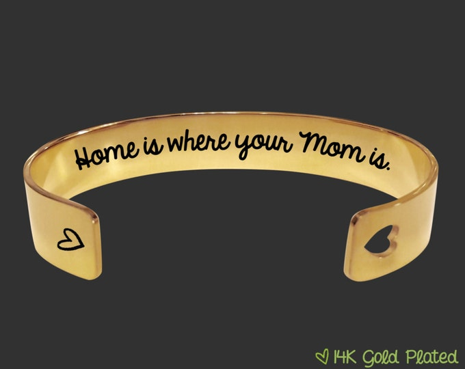 Gold Bracelet   Mothers Day Gift   Mothers Day   Gift for Mom   Mother   Mom Gift   Home is where your Mom is   Korena Loves