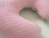 Boppy Pillow Cover Boppy Cover Nursing Pillow Cover Girls Baby Gift Shower Gift Newborn Gift Pink and Gray Boppy Cover Damask Boppy Cover