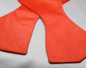 Men's Orange Self Tie Bowtie