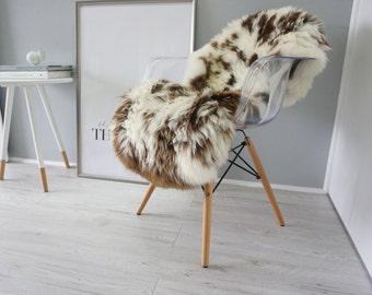 Wonderful Genuine Natural Sheepskin Rug - Soft Wool - Jacob Mix Color - eSN 29