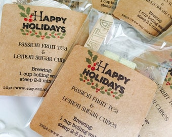 Christmas tea favors