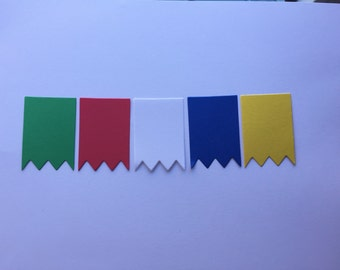 50 die cut banners, Pick a color, Party supplies,  Garland making supplies