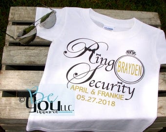 Ring Bearer gift; ring security; ring security shirt; ring bearer shirt; RING SECURITY; ring bearer; wedding party gift; custom gift
