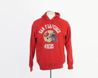 Vintage 80s SWEATSHIRT / 1980s San Francisco 49ers CHAMPION Hoodie L - XL